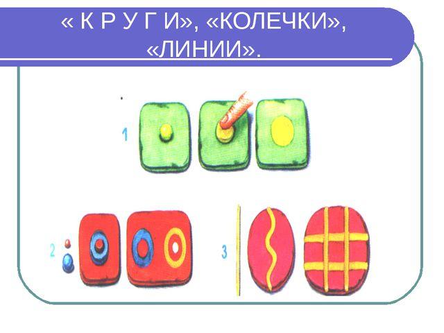 « К Р У Г И», «КОЛЕЧКИ», «ЛИНИИ».