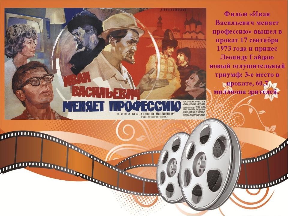Фильм «Иван Васильевич меняет профессию» вышел в прокат 17 сентября 1973 года...