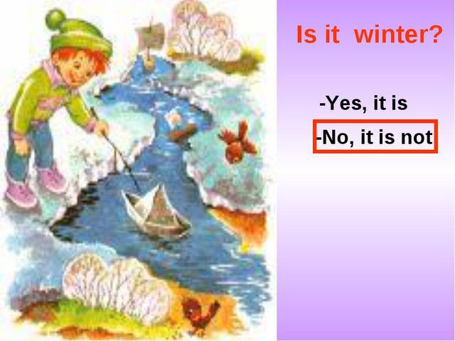 Is it winter? -Yes, it is -No, it is not