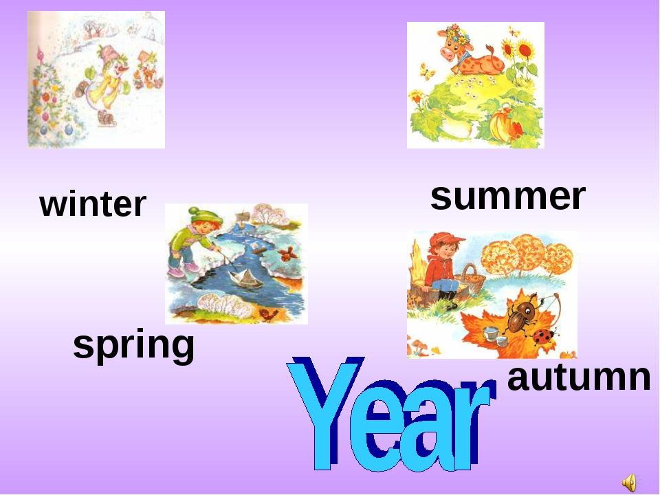 winter spring summer autumn