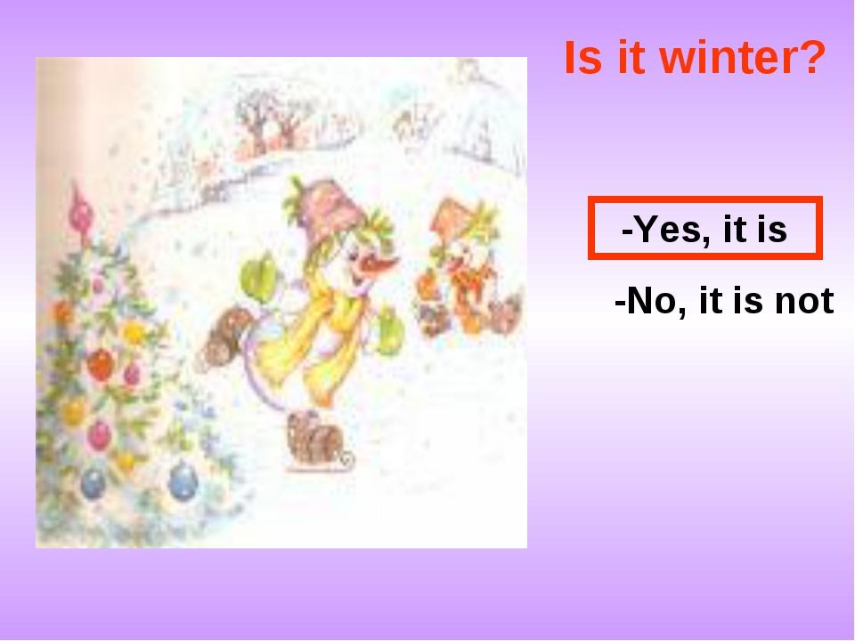 Is it winter? -No, it is not -Yes, it is