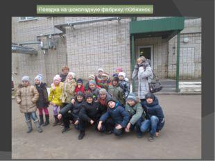 Поездка на шоколадную фабрику, г.Обнинск.