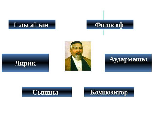 Лирик Сыншы Композитор Философ Аудармашы Ұлы ақын
