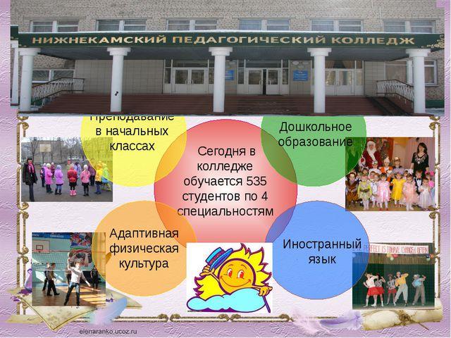 Сегодня в колледже обучается 535 студентов по 4 специальностям Преподавание...