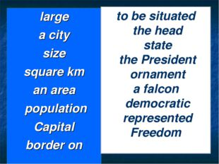 large a city size square km an area population Capital border on to be situat