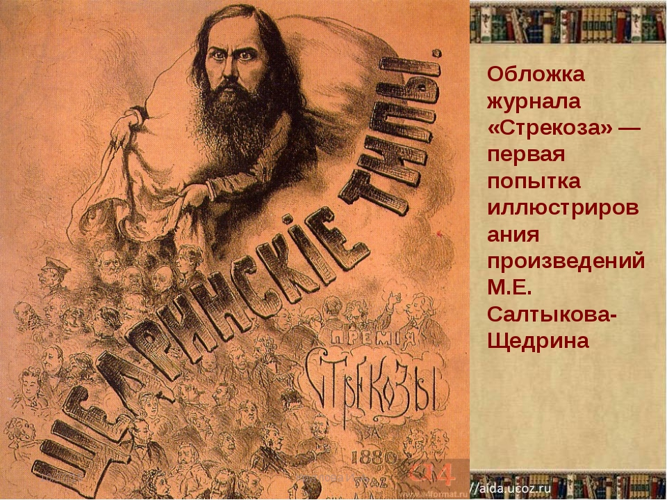 Обложка журнала «Стрекоза» — первая попытка иллюстрирования произведений М.Е....