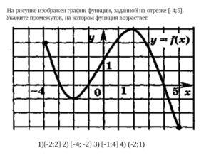 На рисунке изображён график функции, заданной на отрезке [-3;2]. Укажите пром