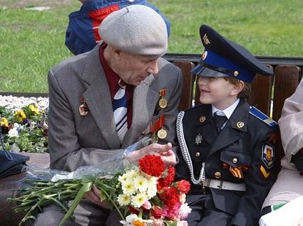 ребенок и ветеран, ребенок на 9 мая