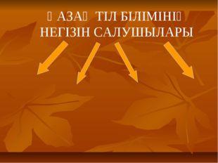 ҚАЗАҚ ТІЛ БІЛІМІНІҢ НЕГІЗІН САЛУШЫЛАРЫ