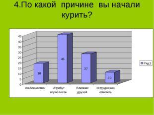 4.По какой причине вы начали курить?
