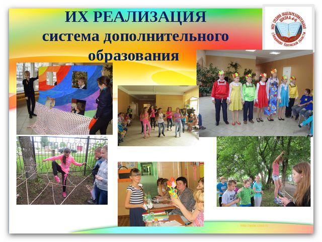 ИХ РЕАЛИЗАЦИЯ система дополнительного образования