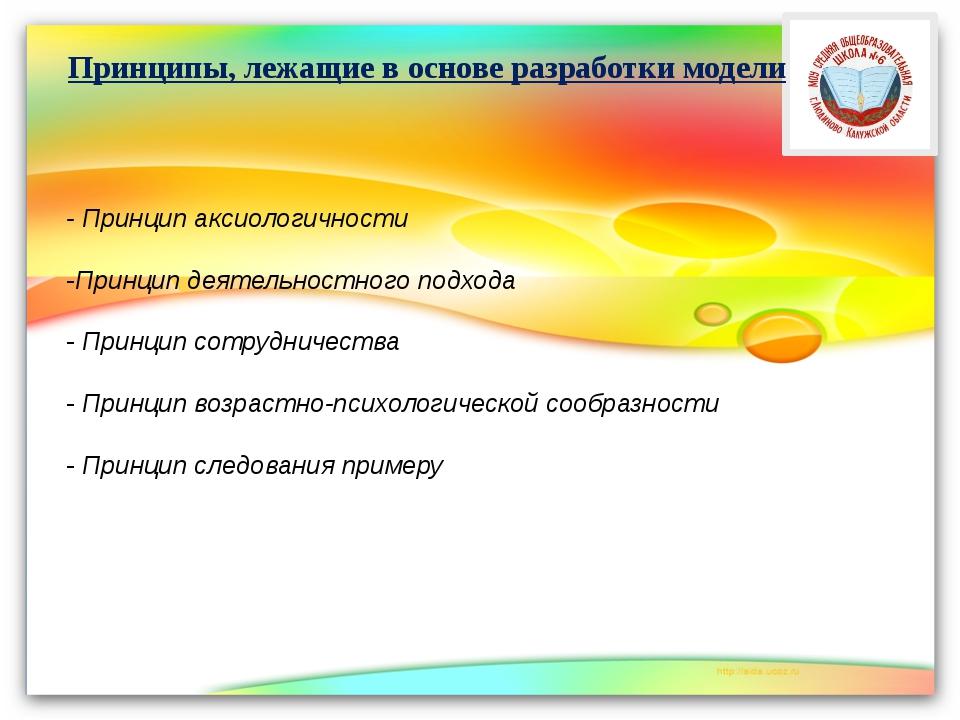 - Принцип аксиологичности -Принцип деятельностного подхода - Принцип сотрудни...