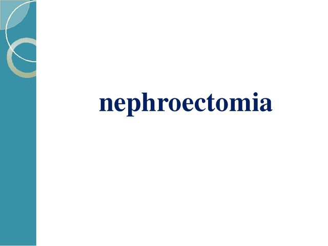 nephroectomia