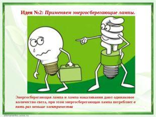 Идея №2: Применяем энергосберегающие лампы. Энергосберегающая лампа и лампа н