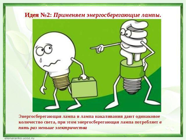 Идея №2: Применяем энергосберегающие лампы. Энергосберегающая лампа и лампа н...