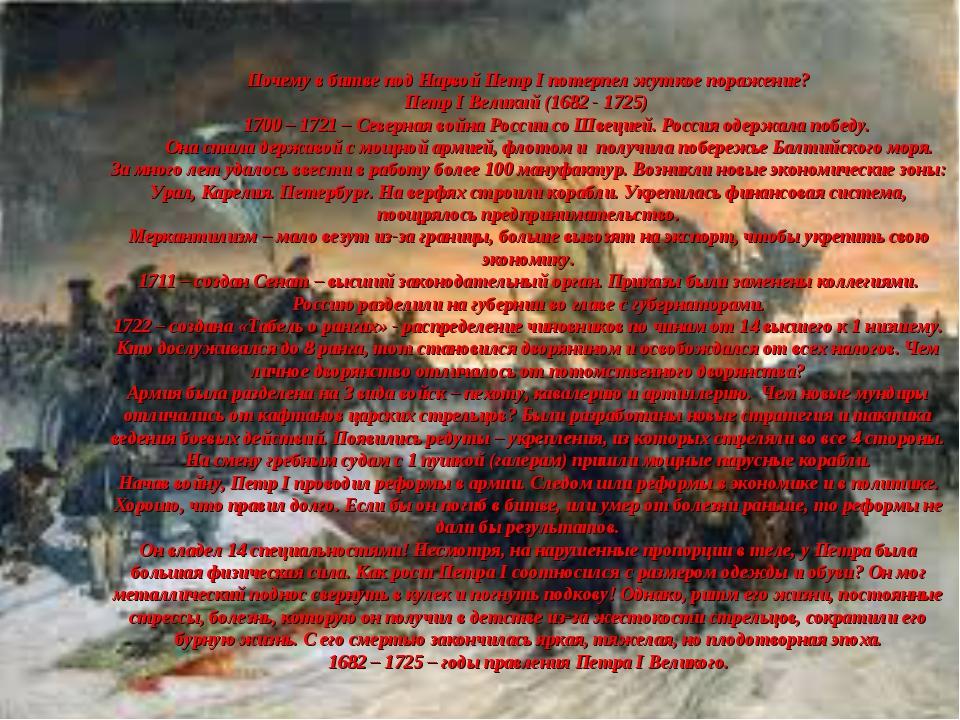 Почему в битве под Нарвой Петр I потерпел жуткое поражение? Петр I Великий (...
