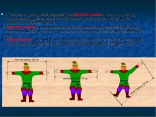 . Большими единицами измерения были простая сажень- расстояние между большими