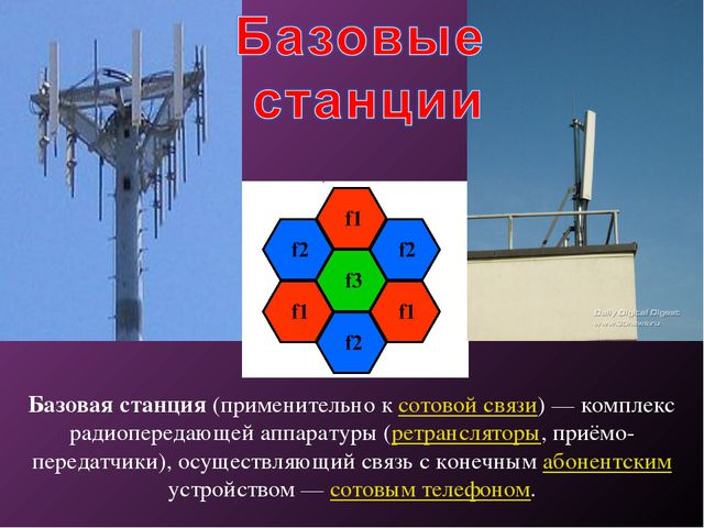 Базовая станция (применительно к сотовой связи) — комплекс радиопередающей ап...