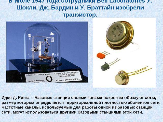 В июле 1947 года сотрудники Bell Laboratories У. Шокли, Дж. Бардин и У. Братт...