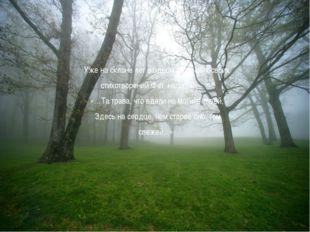 Уже на склоне лет в одном из лучших своих стихотворений Фет напишет: «…Та тра