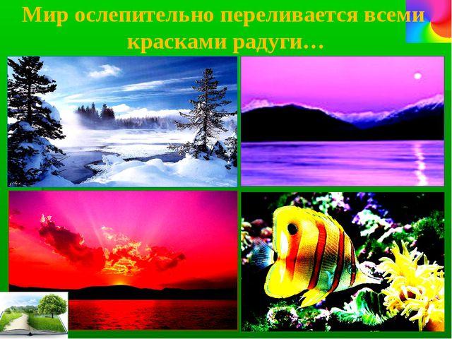 Мир ослепительно переливается всеми красками радуги…