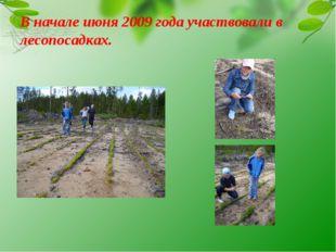 В начале июня 2009 года участвовали в лесопосадках.