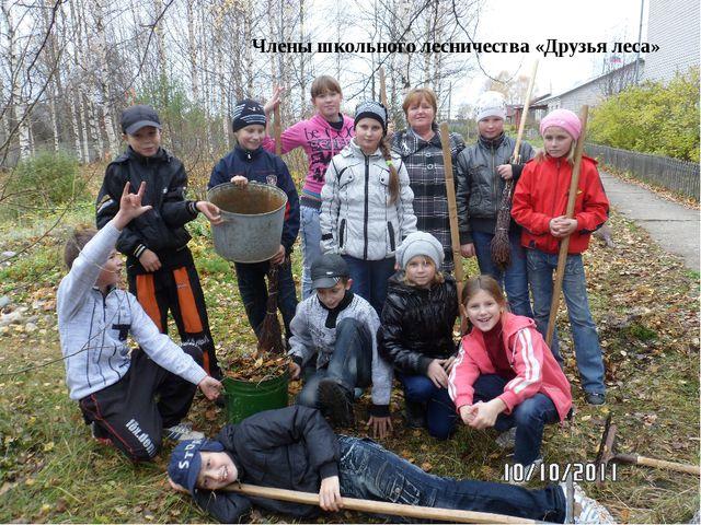 Члены школьного лесничества «Друзья леса»