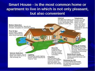 Smart House - is the most common home or apartment to live in which is not on