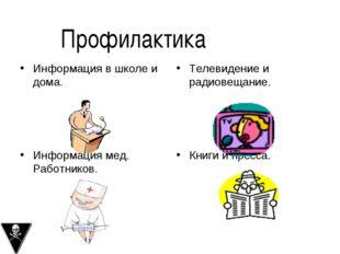 Информация в школе и дома. Телевидение и радиовещание. Информация мед. Работн