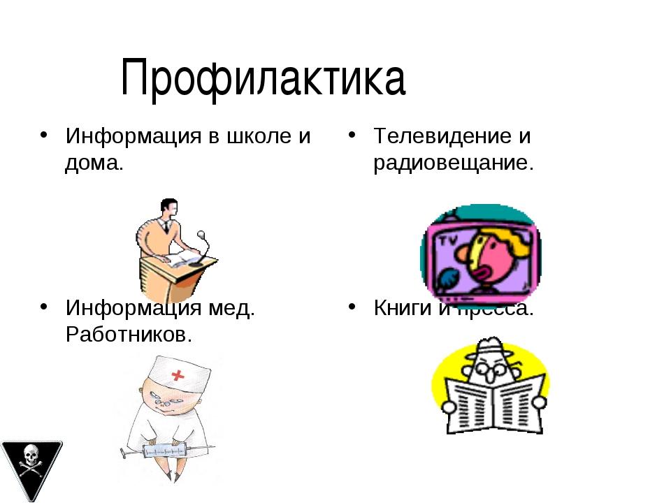 Информация в школе и дома. Телевидение и радиовещание. Информация мед. Работн...