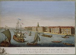 http://upload.wikimedia.org/wikipedia/commons/thumb/5/55/Makhayev%2C_Kachalov_-_View_of_Neva_Downstream_between_Winter_Palace_and_Academy_of_Sciences_1753_%28right%29.jpg/250px-Makhayev%2C_Kachalov_-_View_of_Neva_Downstream_between_Winter_Palace_and_Academy_of_Sciences_1753_%28right%29.jpg