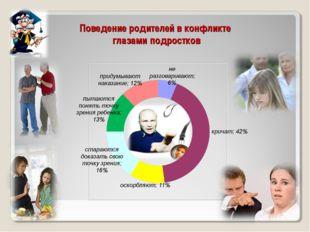 Поведение родителей в конфликте глазами подростков