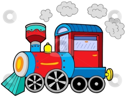 Steam locomotive with engine driver and wagons из Klara Visk…