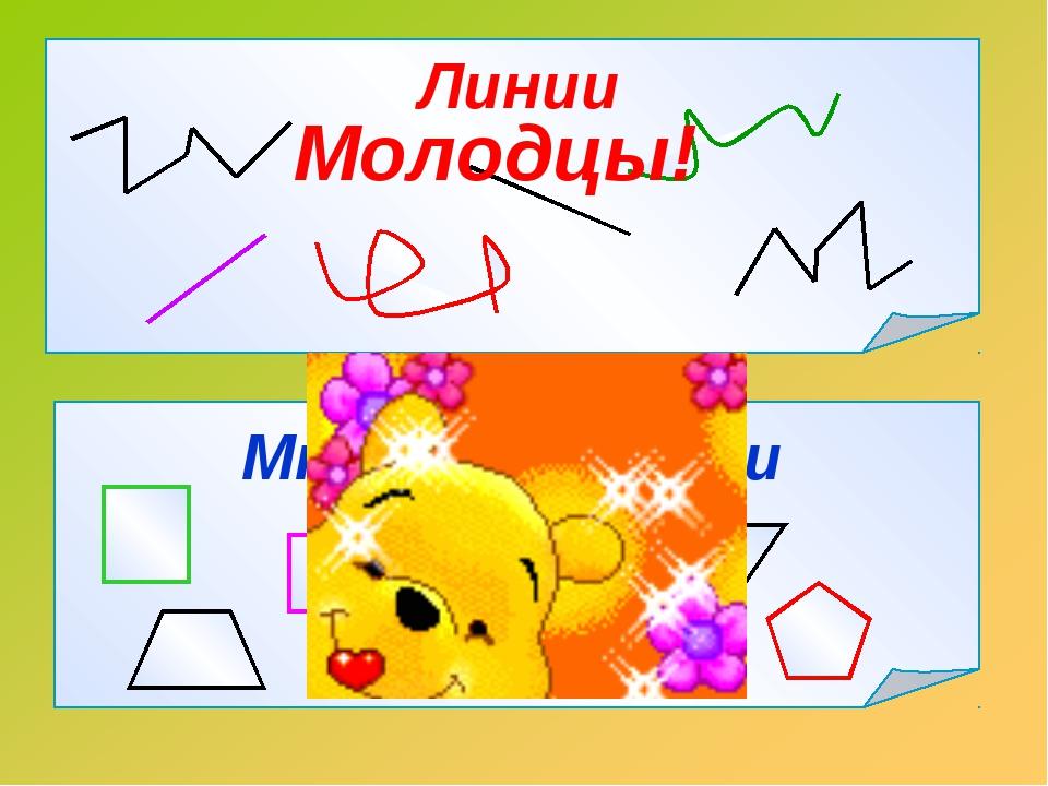 Линии Многоугольники Молодцы!