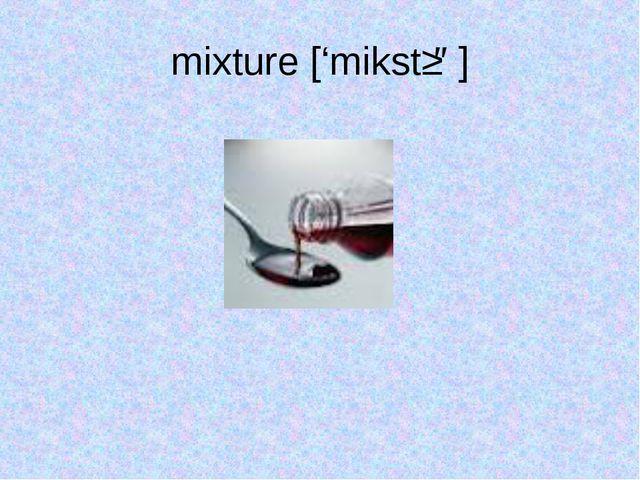 mixture ['mikstʃə]