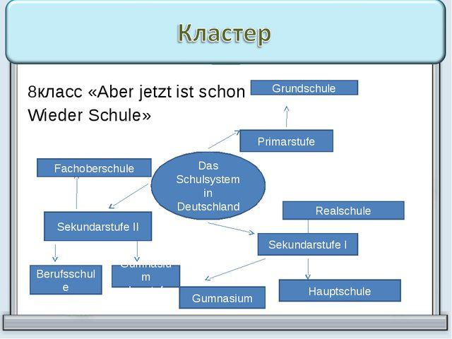 8класс «Aber jetzt ist schon Wieder Schule» Das Schulsystem in Deutschland Pr...