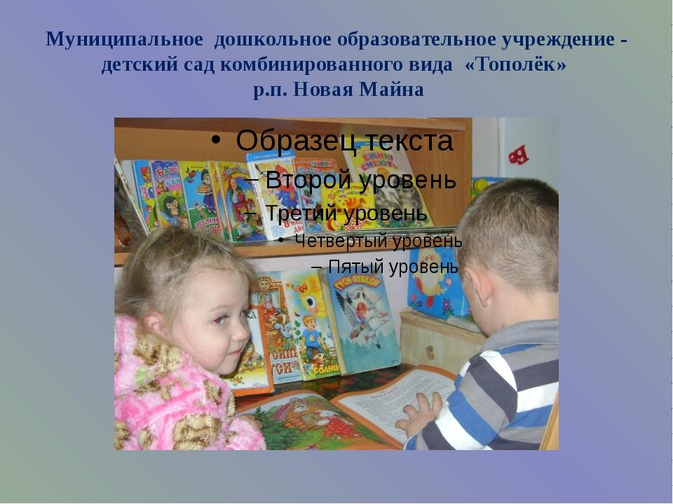 Муниципальное дошкольное образовательное учреждение - детский сад комбинирова...