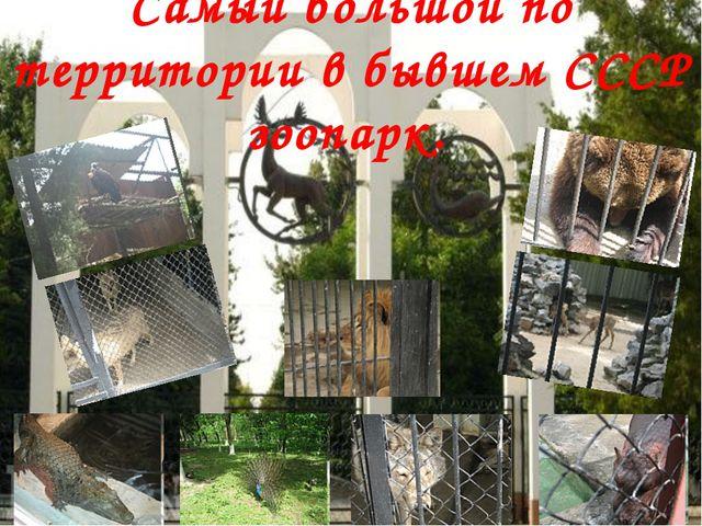 Самый большой по территории в бывшем СССР зоопарк.