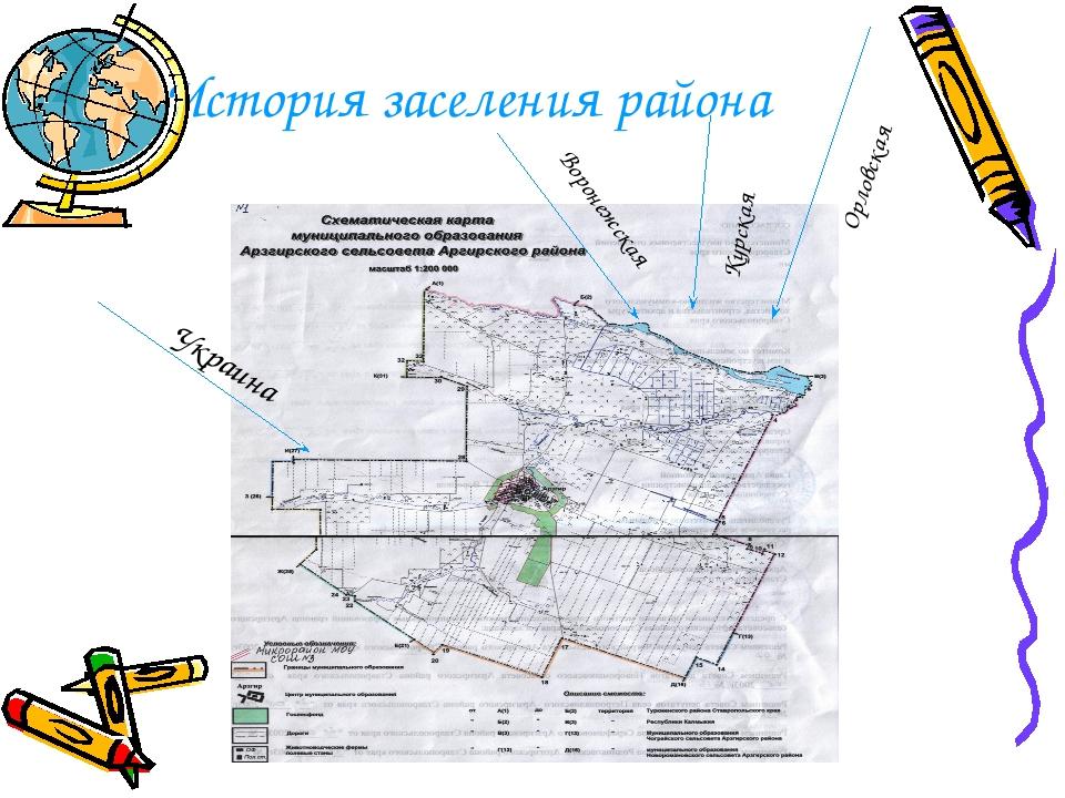 История заселения района Украина Воронежская Курская Орловская