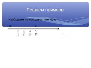Изобразим на координатном луче: Решаем примеры