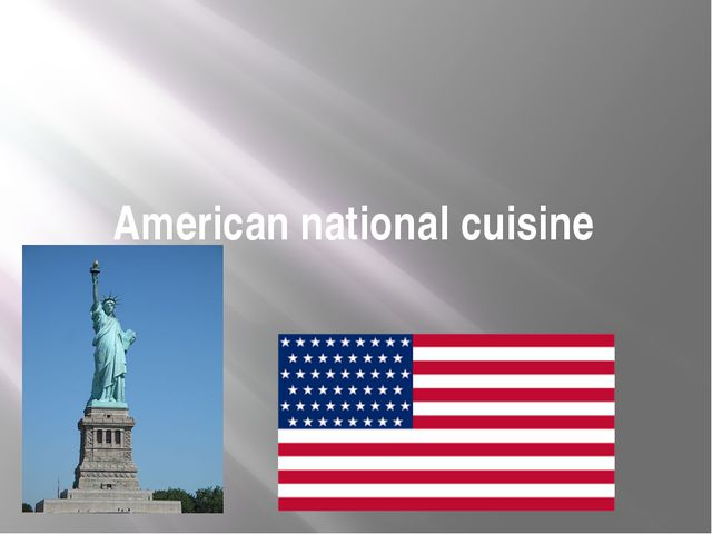 American national cuisine