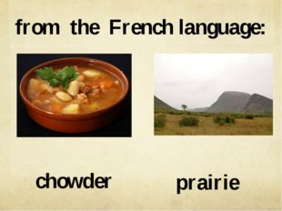 from the French language: prairie chowder