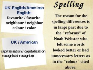 Spelling UK English/American English: favourite / favorite neighbour / neighb