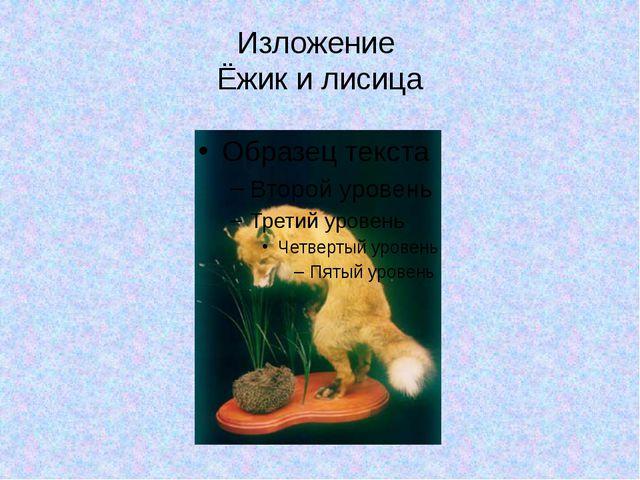 Изложение Ёжик и лисица