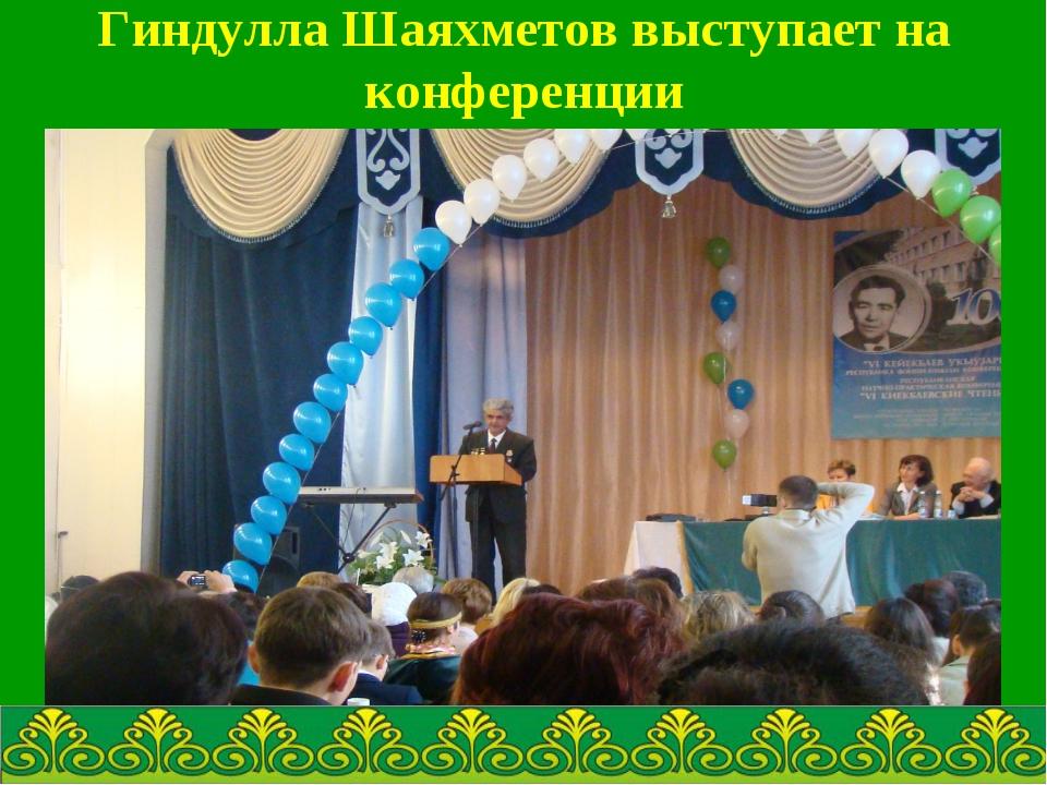 Гиндулла Шаяхметов выступает на конференции