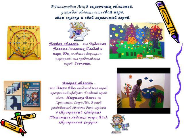 В Фиолетовом Лесу 9 сказочных областей, у каждой области есть своя игра, своя...