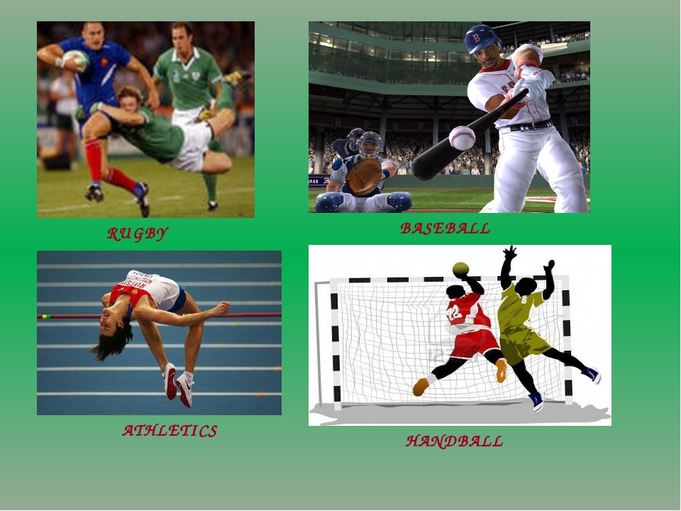 RUGBY BASEBALL ATHLETICS HANDBALL