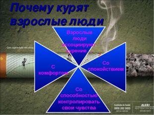 Почему курят взрослые люди Взрослые люди ассоциируют курение … Со способность