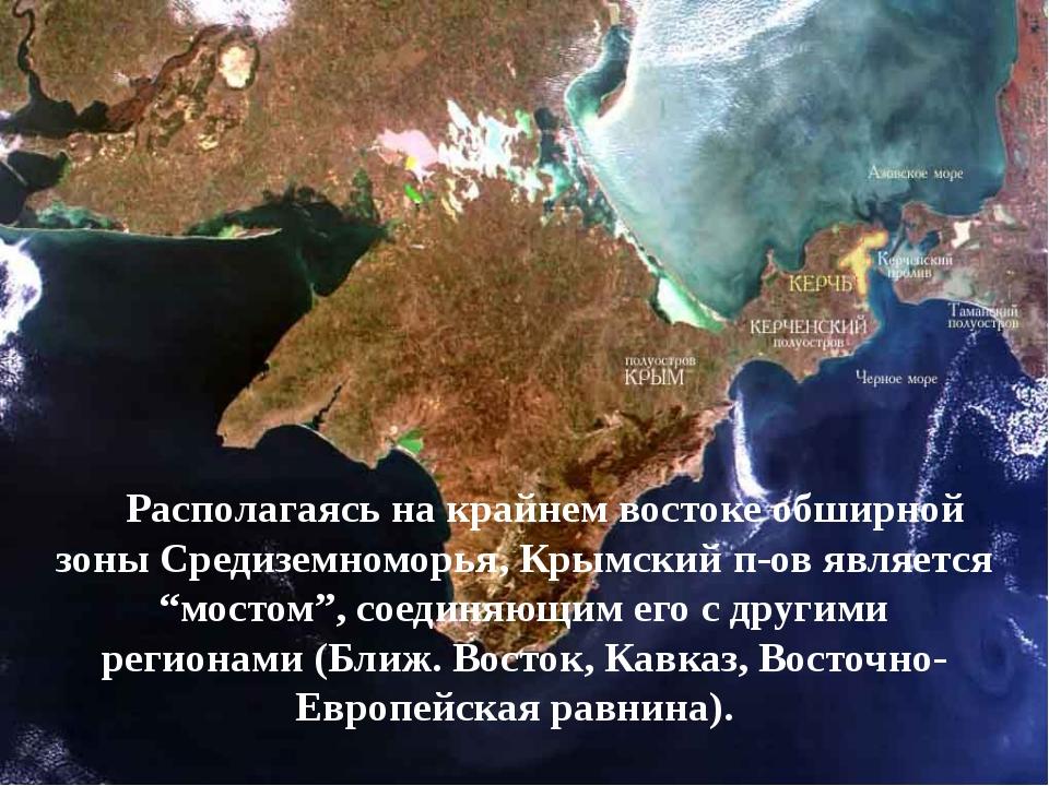 Располагаясь на крайнем востоке обширной зоны Средиземноморья, Крымский п-ов...