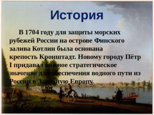 История В 1704 году для защиты морских рубежей России на острове Финского зал
